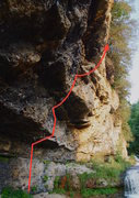 Rock Climbing Photo: Beta Photo of the full route