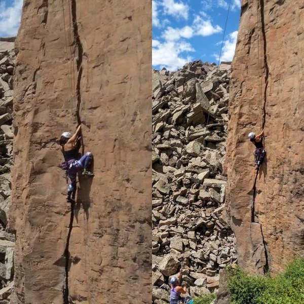 Rock Climbing Photo: My third time crack climbing and still learning. T...