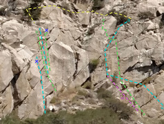 Rock Climbing Photo: Rebuffat sector 5 of Rush area - overview of Route...