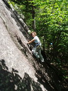Rock Climbing Photo: S Matz TR-ing Green Mile Direct She is about a bod...