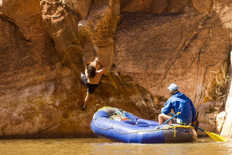 Rock Climbing Photo: Noah getting after it