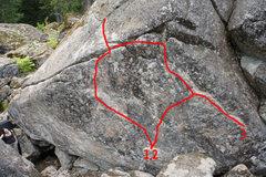 Rock Climbing Photo: 1. Dreamland V2 2. Royce's Mom V4 3. Cody'...