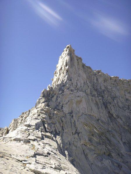 Rock Climbing Photo: Horn Peak (N. Arete) from near Horn Col.