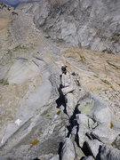 Rock Climbing Photo: On the P1 knife edge ridge.