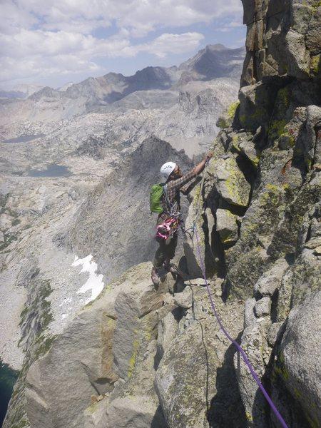 Rock Climbing Photo: Up around P5.
