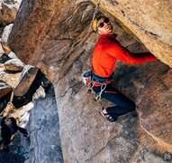 Rock Climbing Photo: Grant making the first clip