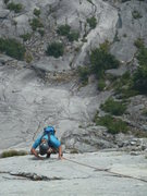 Rock Climbing Photo: Delicious knobby climbing on Pitch 4.