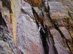 Rock Climbing Photo: Jonas Abdo on the route.
