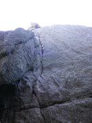 Rock Climbing Photo: Nick cleaning Nick