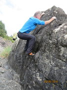 "Rock Climbing Photo: Nearing the top of ""Rain Delay."""
