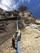"Rock Climbing Photo: Start of ""Somebody open my Dew"""