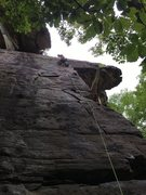 Rock Climbing Photo: Looking up Beat Seat in the House