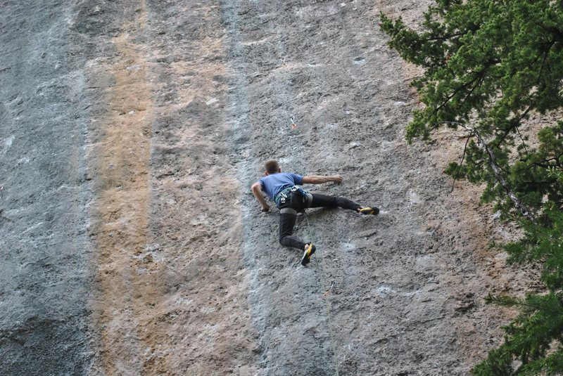 Rock Climbing Photo: Blue light special at French Cattle Ranch in Ten S...
