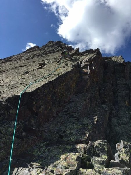 Rock Climbing Photo: First pitch Wham Ridge - finally steep enough to w...