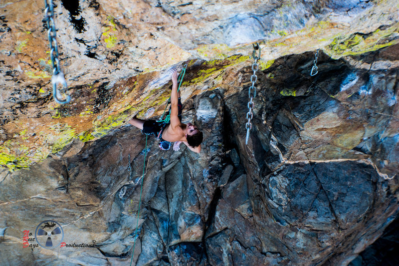 Rock Climbing Photo: Clay at the beginning of the route before it split...