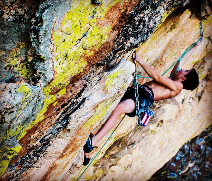"""Rock Climbing Photo: Clay just passing the part where """"In search o..."""