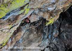 Rock Climbing Photo: Peeping ou from the Orifice on Hard Day