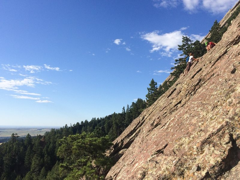 Slightly steep.