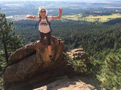 Rock Climbing Photo: Leap of Faith.