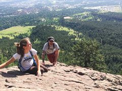 Rock Climbing Photo: Morning cruise up the second Flatiron.