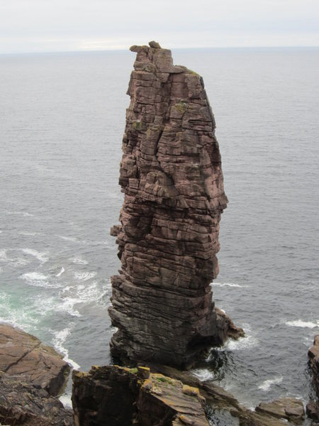 Old Man of Stoer . A sea stack on the point of Stoer NW Scotland.
