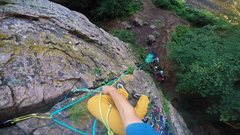 Rock Climbing Photo: Leading the appropriately named Garden Path (5.5) ...