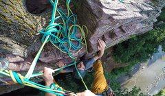 Rock Climbing Photo: Bringing my partner up The Verdict (5.6) at Palisa...