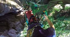 Rock Climbing Photo: Leading Toll Road (5.3) on August 14, 2016.