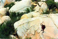 Rock Climbing Photo: This problem is a stout 5.11 with a bad landing.