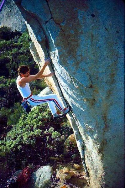 Rock Climbing Photo: On Alcoa, 1986