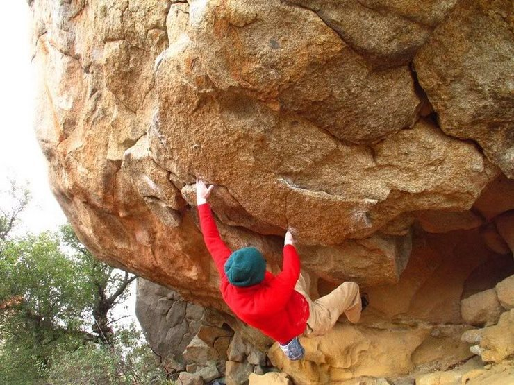 Rock Climbing Photo: On the Cave, 2004