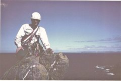 Rock Climbing Photo: On the summit of Old Man of Stoer sea stack 1995