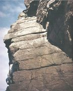Rock Climbing Photo: On a FA The Great Corner ... Point of Stoer NW Sco...