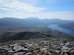 Rock Climbing Photo: The long descent from Quinag