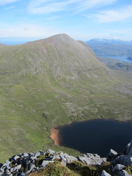 Looking down to the small lake .. Mt Quinag