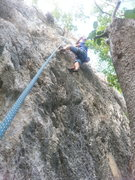 Rock Climbing Photo: On Jessica first ascent...