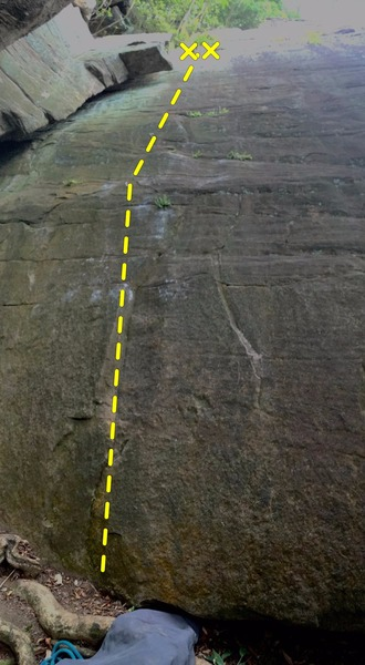 Rock Climbing Photo: very demanding start,  stay to the right for somew...