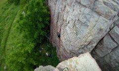 Rock Climbing Photo: Leading Incapacitation (5.8).  July 2016.  FYI, th...