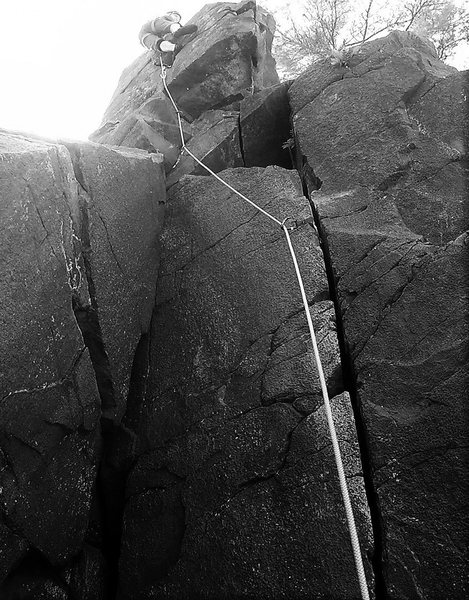 Leading the Indian Head (5.8).  Summer 2016.