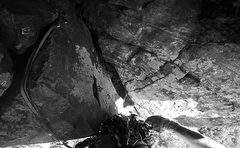 Rock Climbing Photo: Might as well clip it, right? Leading Double Overh...