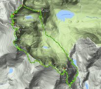 Rock Climbing Photo: Here is our GPS tracks of the Traverse and all 13 ...