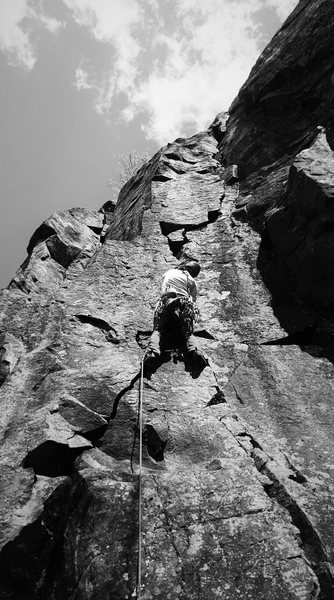 Rock Climbing Photo: Onsight lead of The Flake (5.8) on May 7, 2016.