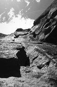 Rock Climbing Photo: The Flake (5.8) is steep!