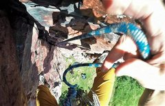 Rock Climbing Photo: Onsight lead of Jasper's Dihedral (5.8) on Jul...