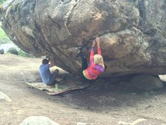 Rock Climbing Photo: My daughter Apes (April) and I hangin' out on ...