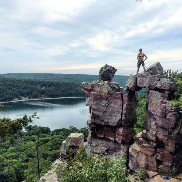 Rock Climbing Photo: Devil's lake