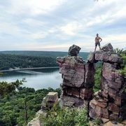 Rock Climbing Photo: Devil's lake