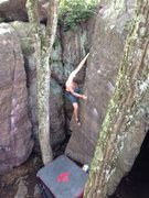 Rock Climbing Photo: Michael running a lap during his birthday challeng...