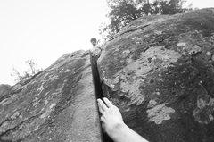 Rock Climbing Photo: Leading through the finish on Cathuselum (5.7) on ...