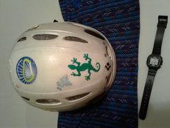 Rock Climbing Photo: found helmet and stuff.